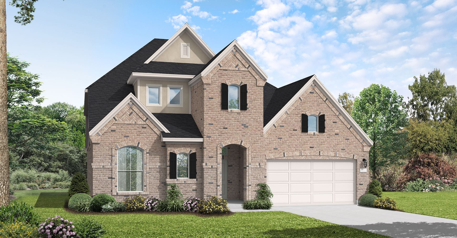 Exterior featured in the Lumberton By Coventry Homes in Houston, TX