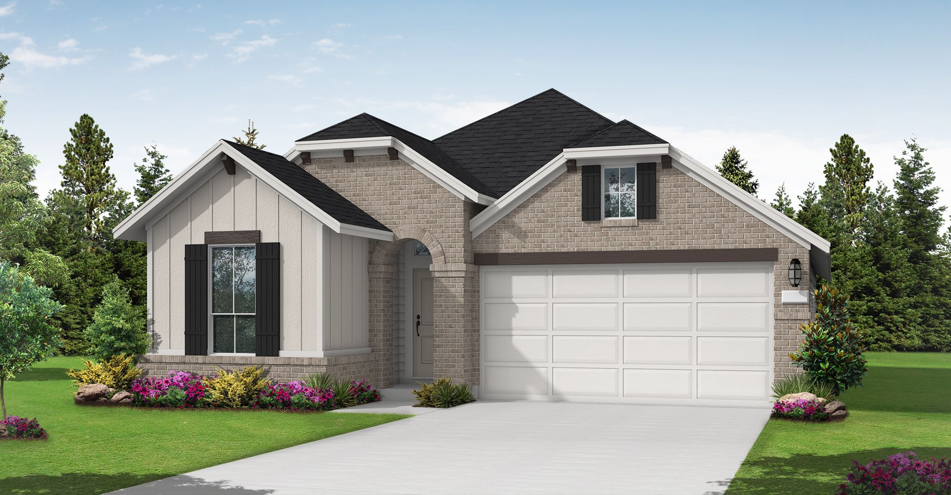 Exterior featured in the Kendalia By Coventry Homes in San Antonio, TX