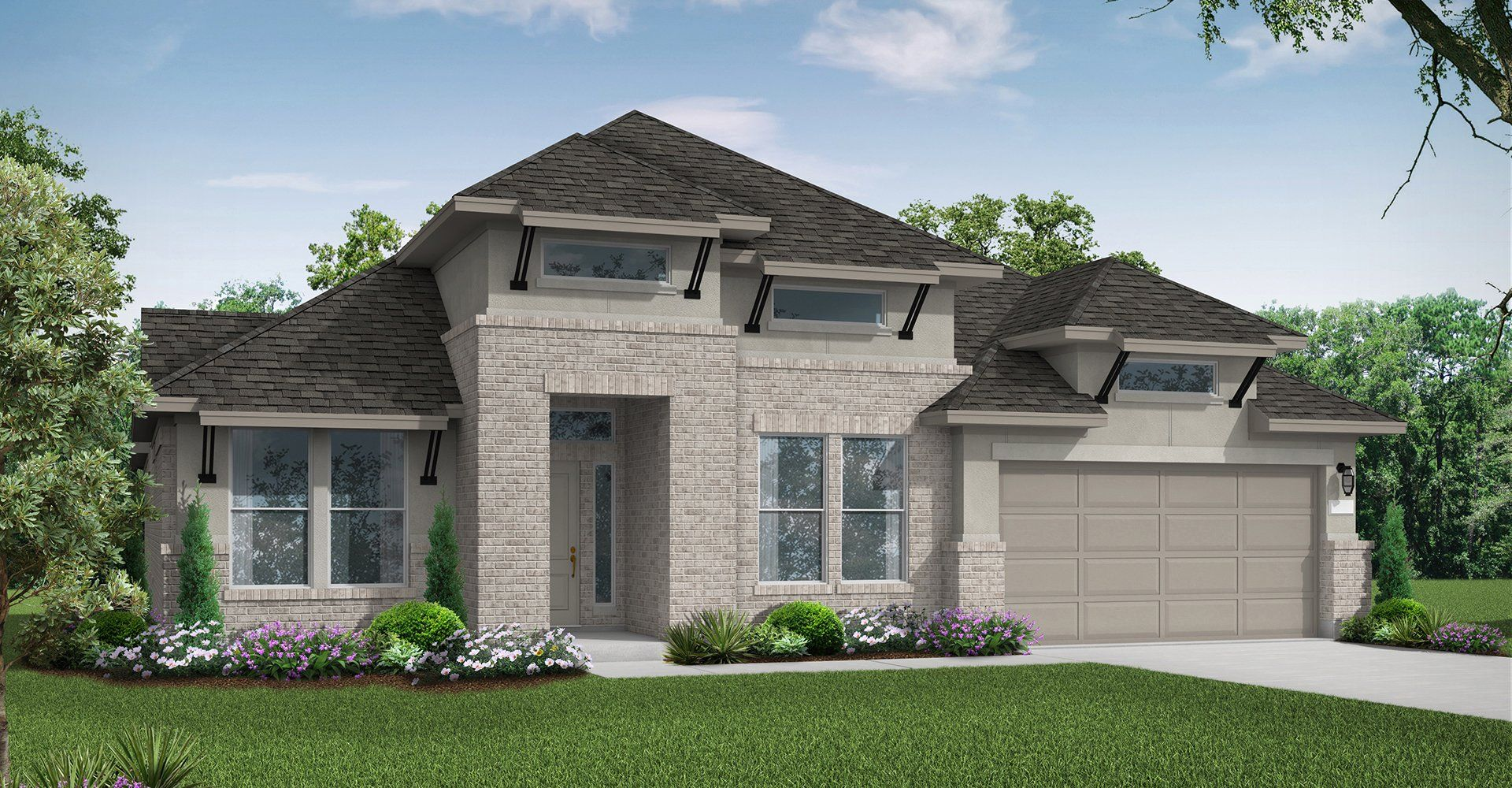 Exterior featured in the Lindsay By Coventry Homes in Houston, TX