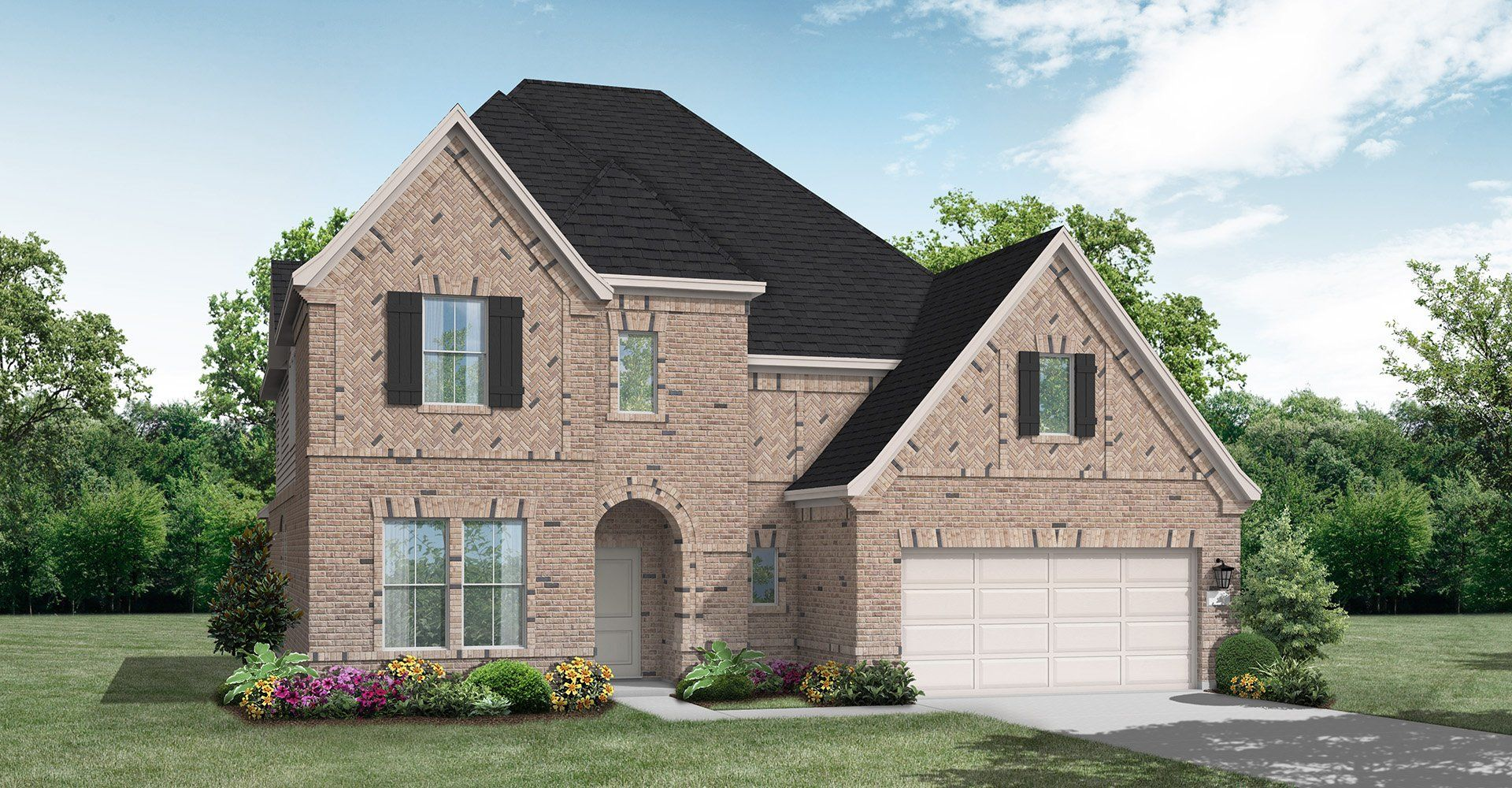 Exterior featured in the Caddo Mills By Coventry Homes in Houston, TX