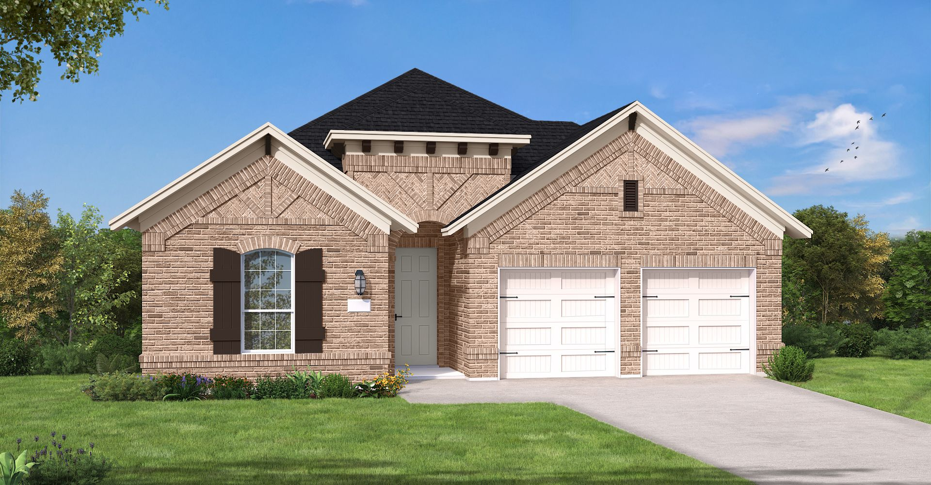 Exterior featured in the Brownsville II By Coventry Homes in Fort Worth, TX