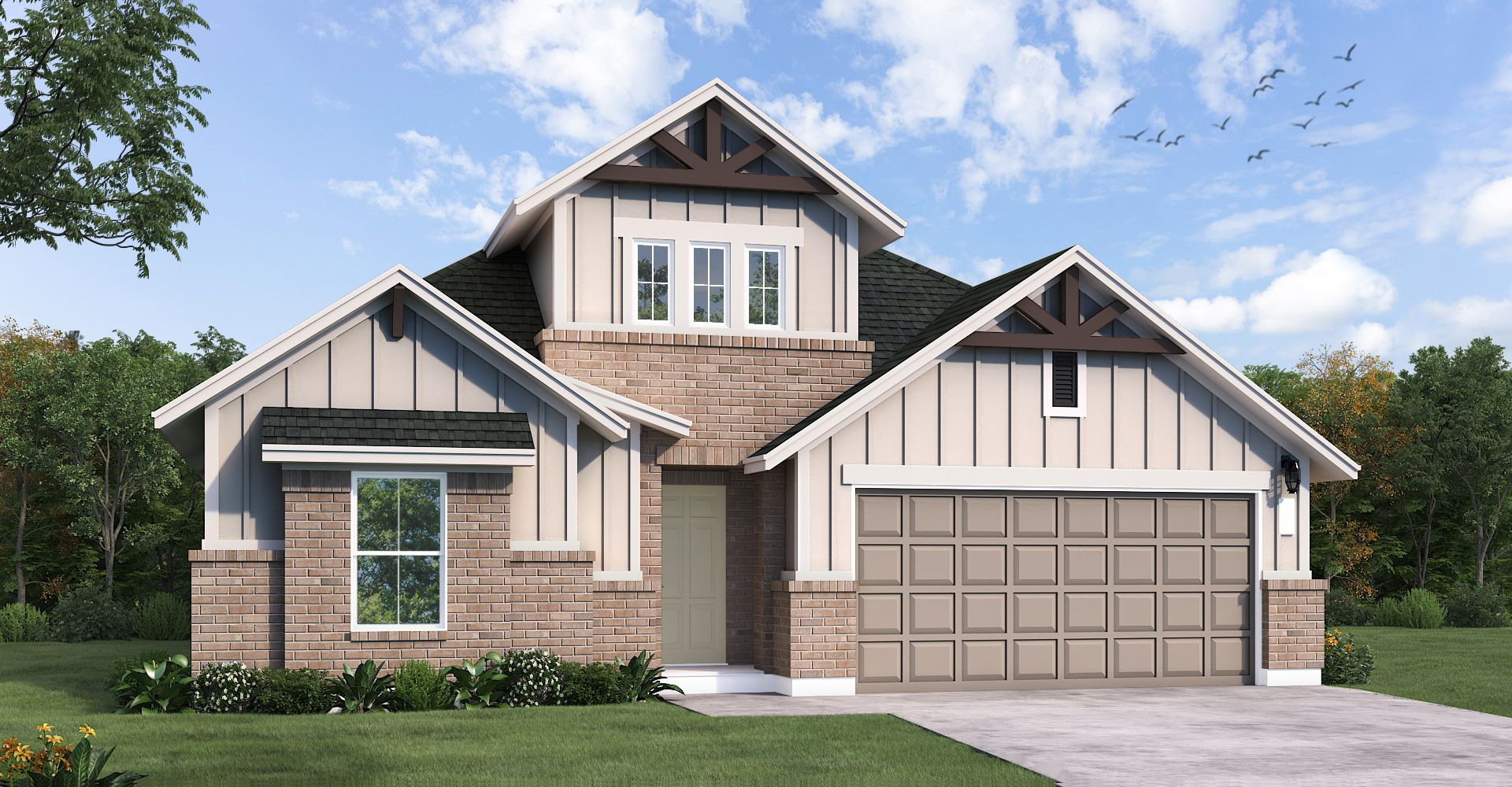 Exterior featured in the Cypress By Coventry Homes in San Antonio, TX