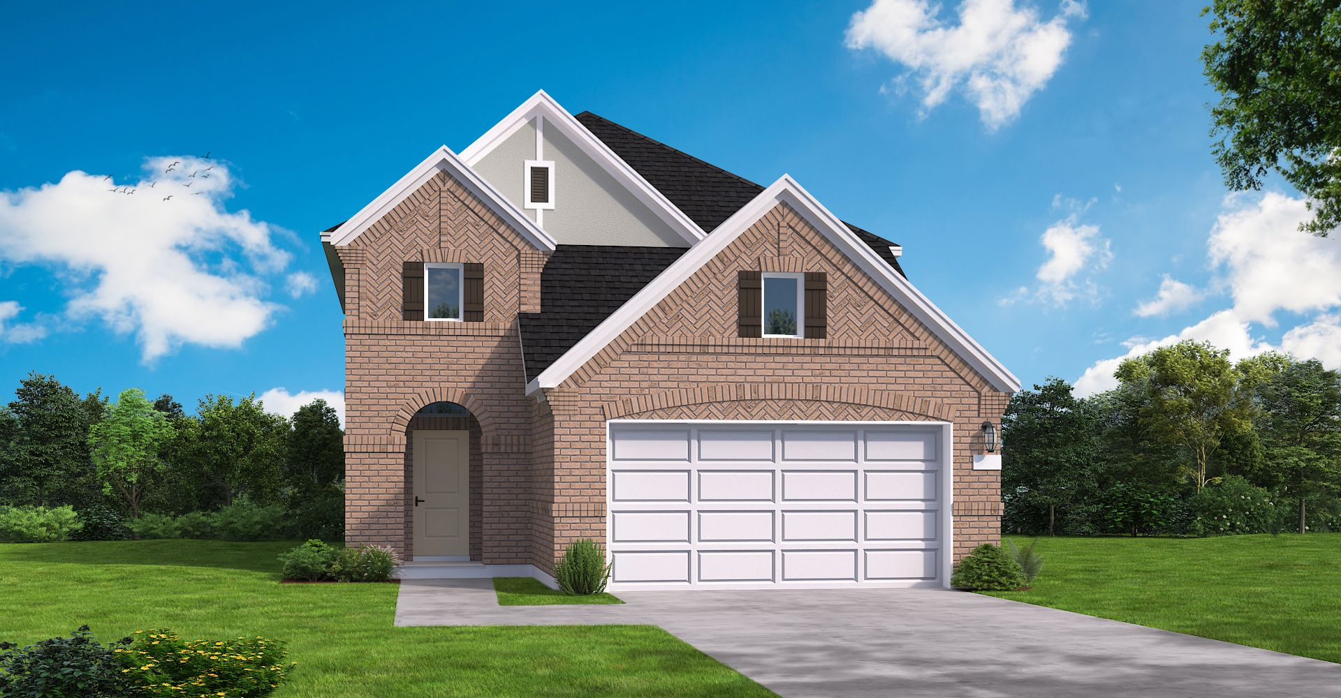Exterior featured in the Wingate By Coventry Homes in Houston, TX