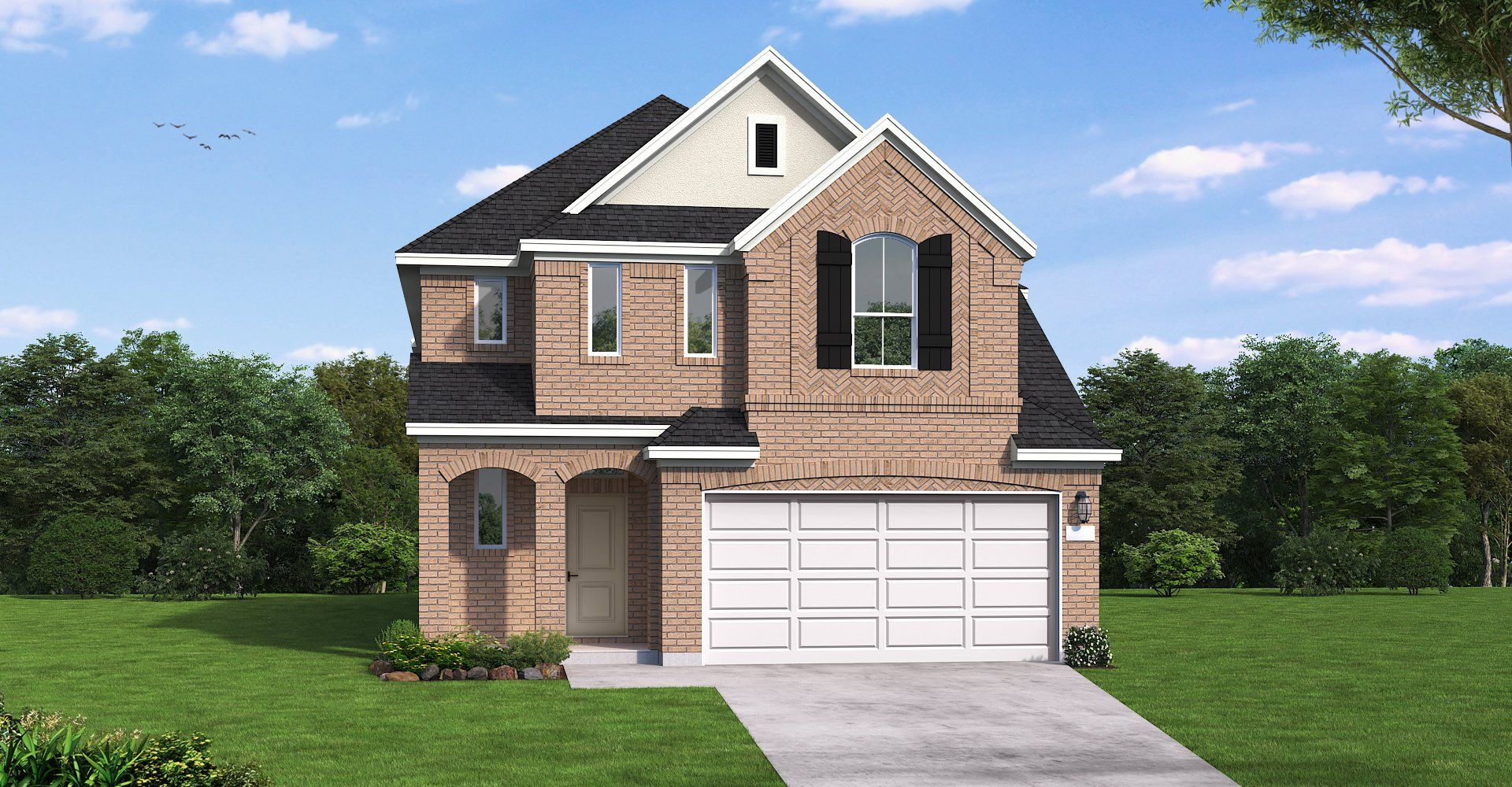 Exterior featured in the Weimar By Coventry Homes in Houston, TX