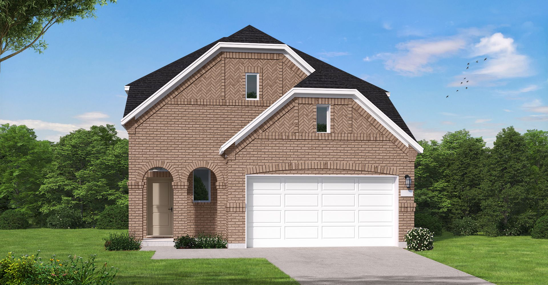 Exterior featured in the Covington By Coventry Homes in Houston, TX