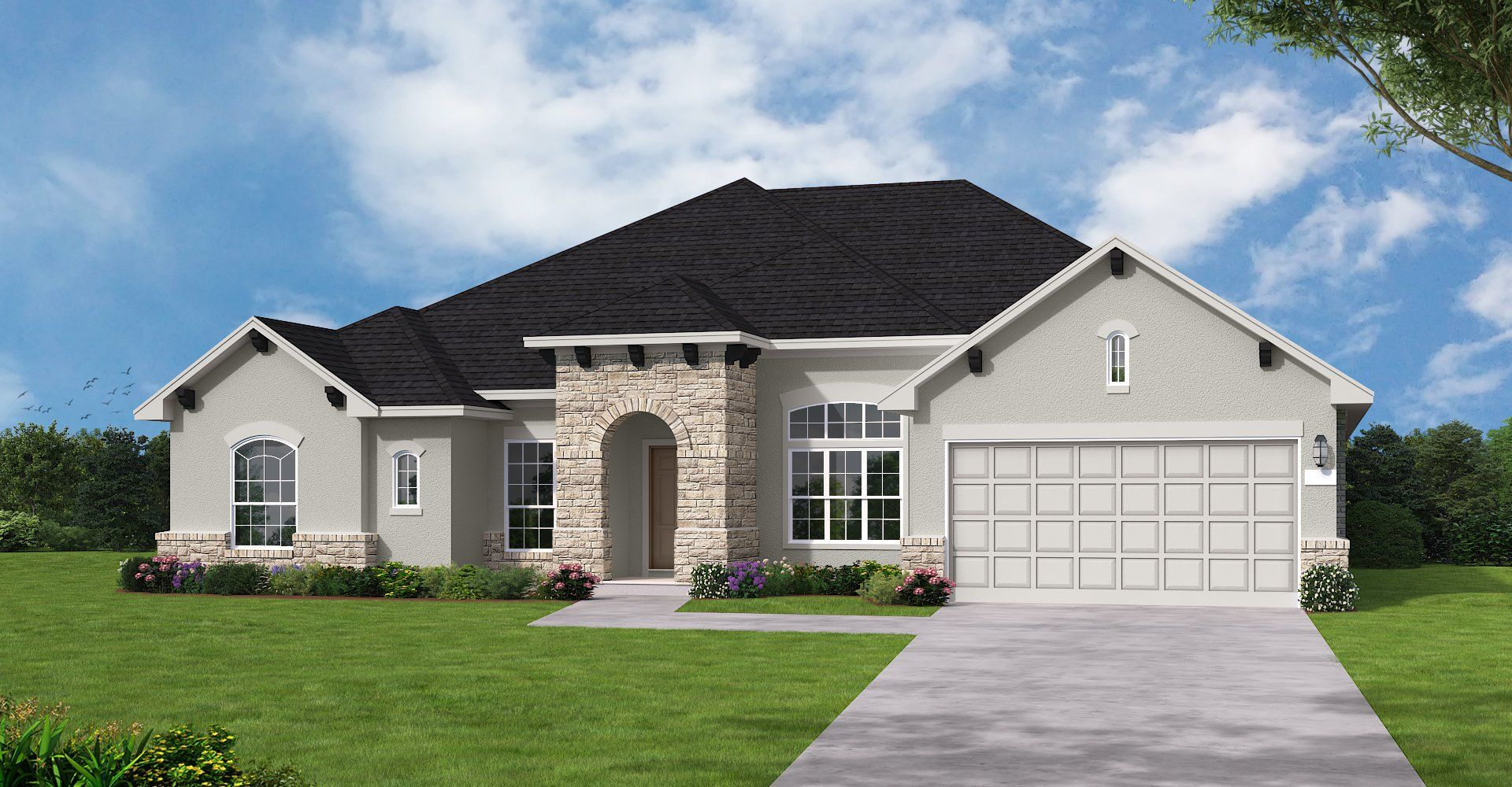 Exterior featured in the Aspen III By Coventry Homes in Austin, TX