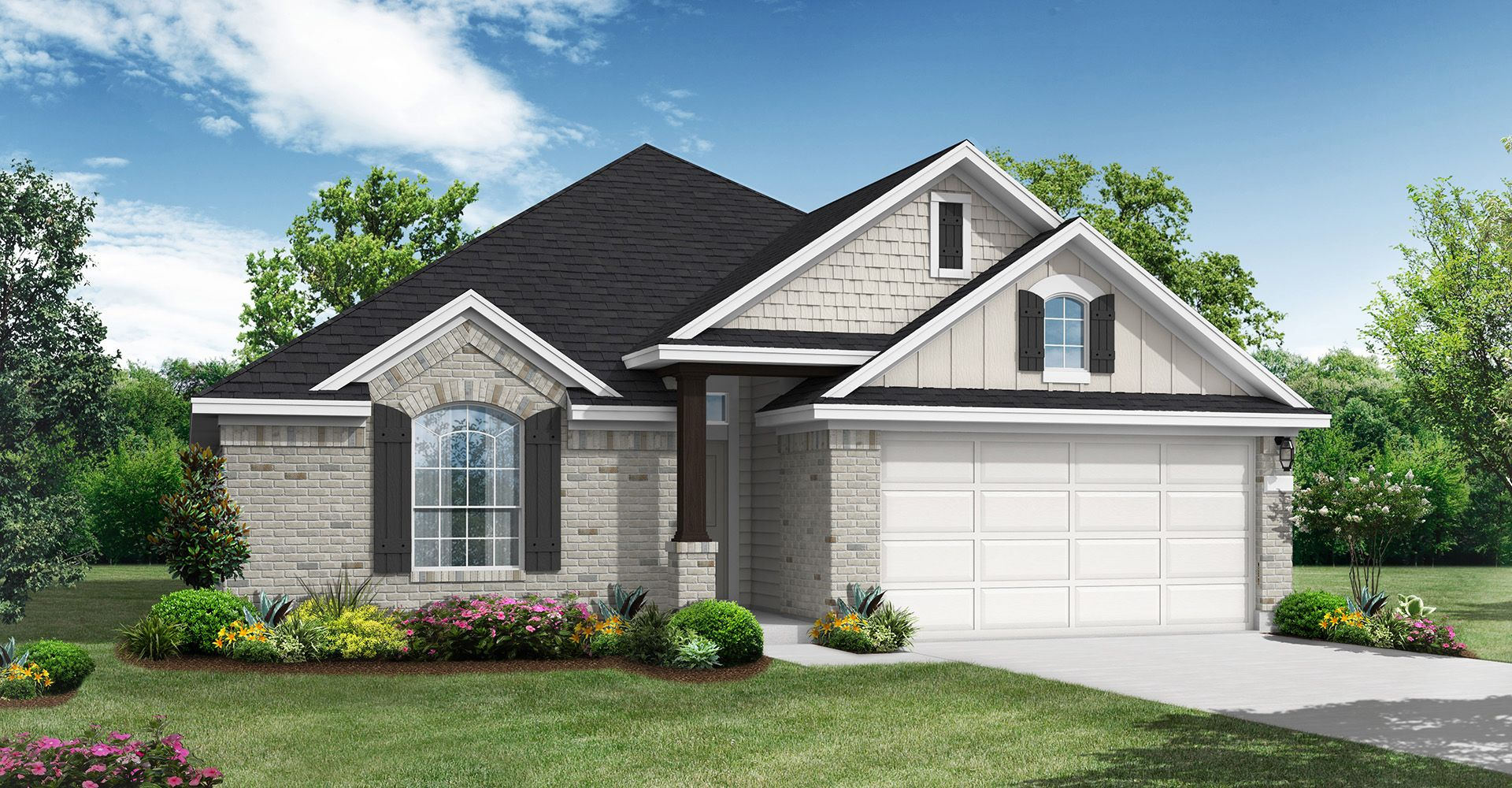 Exterior featured in the DeSoto By Coventry Homes in Austin, TX