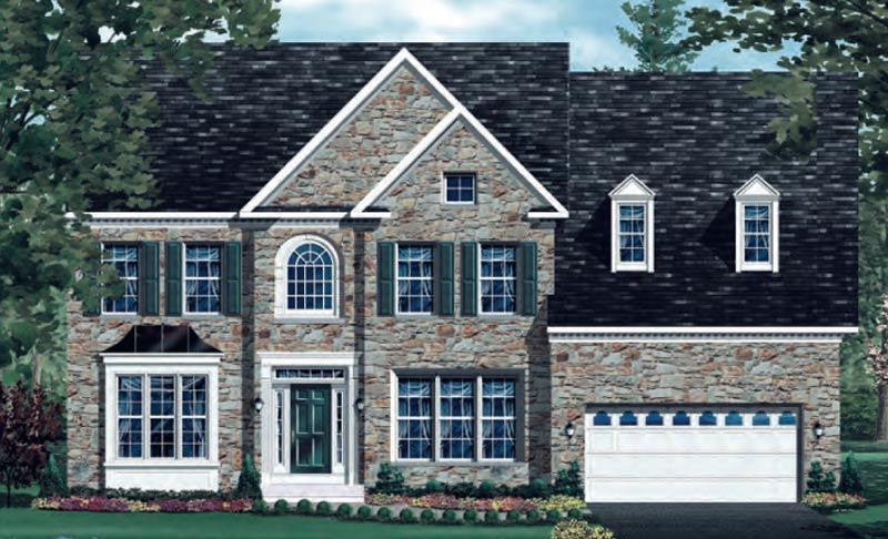 Exterior featured in the Clifton - BOYL By Craftmark Homes in Washington, VA