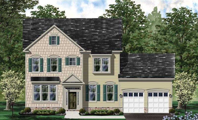 Exterior featured in the Hamilton - LOT NOT INCLUDED IN PRICE By Craftmark Homes in Washington, MD