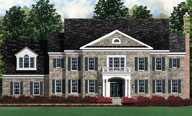 Exterior featured in the Kenwood II - LOT NOT INCLUDED IN PRICE By Craftmark Homes in Baltimore, MD