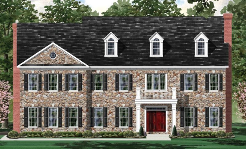 Exterior featured in the Oakmont - LOT NOT INCLUDED IN PRICE By Craftmark Homes in Baltimore, MD