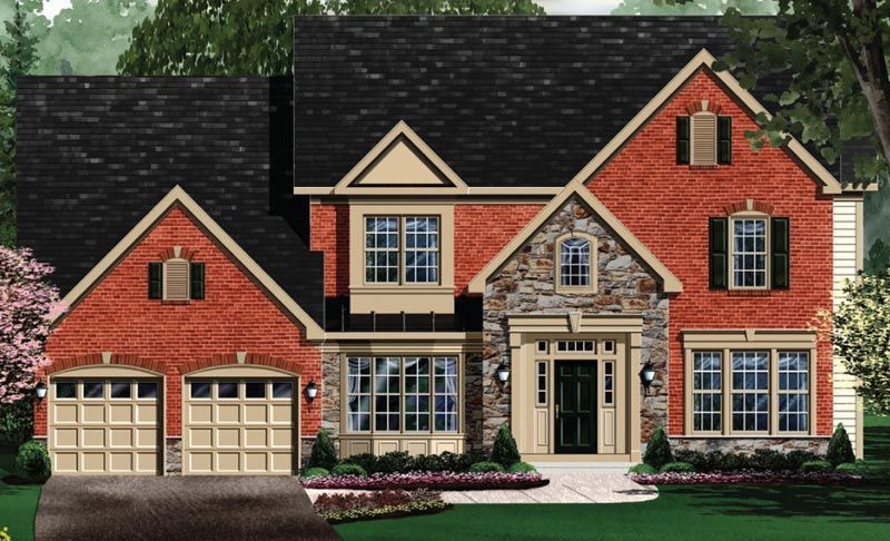 Exterior featured in the Edgemoor - Your Lot By Craftmark Homes in Baltimore, MD