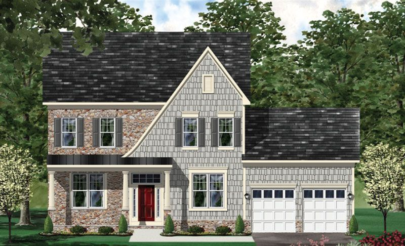 Exterior featured in the Hamilton - LOT NOT INCLUDED IN PRICE By Craftmark Homes in Baltimore, MD