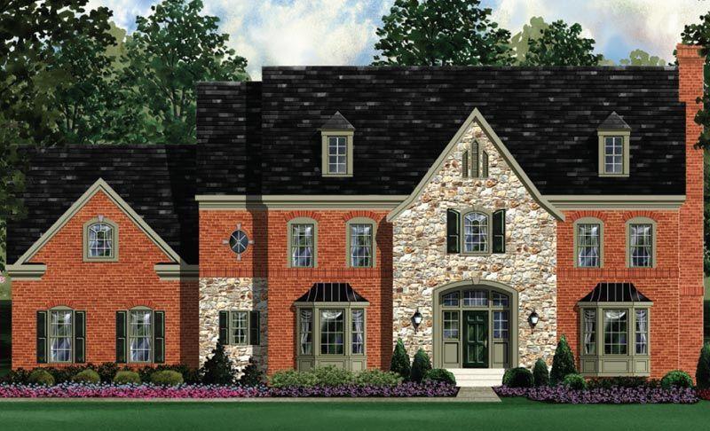 Exterior featured in the Kenwood - Floor Plan By Craftmark Homes in Washington, VA