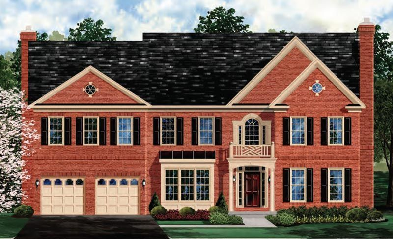 Exterior featured in the Oakton - Your Lot By Craftmark Homes in Baltimore, MD