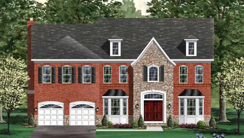 Exterior featured in the Oakdale - Your Lot By Craftmark Homes in Baltimore, MD