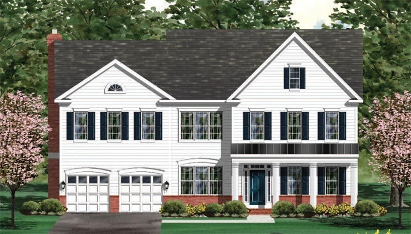Exterior featured in the Oakdale - Floor Plan By Craftmark Homes in Baltimore, MD