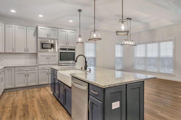 Kitchen featured in the Pavilion Villa By Craig Builders in Charlottesville, VA