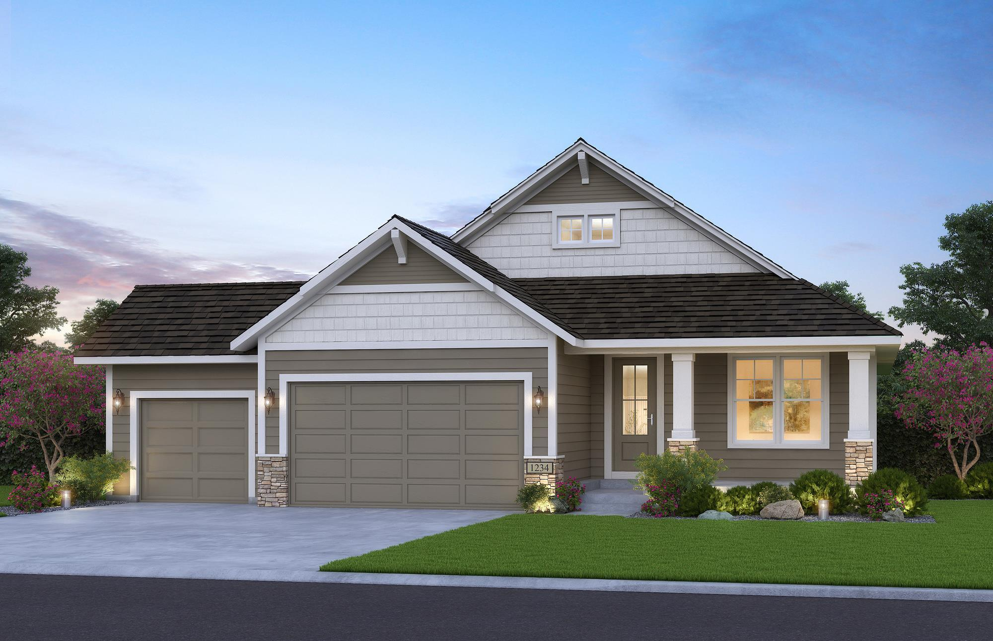 Exterior featured in the Victoria By Creative Homes in Minneapolis-St. Paul, WI