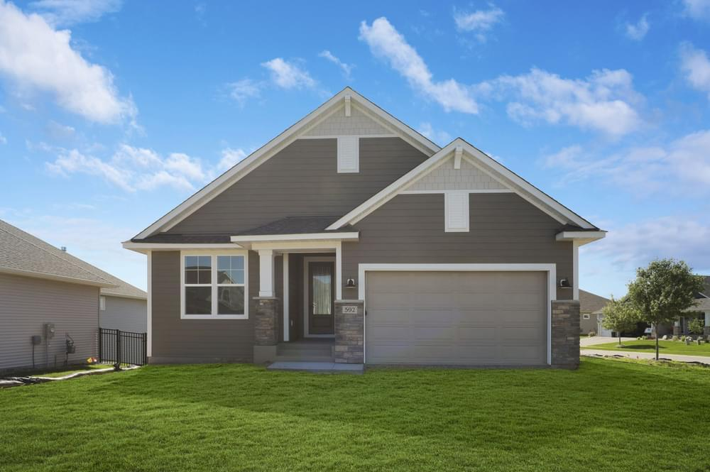 Exterior featured in the Riley-Villa By Creative Homes in Minneapolis-St. Paul, MN