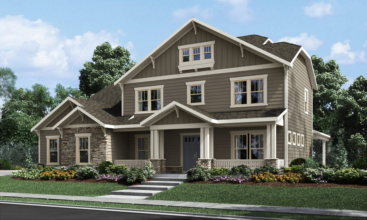 Exterior featured in The Fieldcrest By Fielding Homes in Charlotte, NC