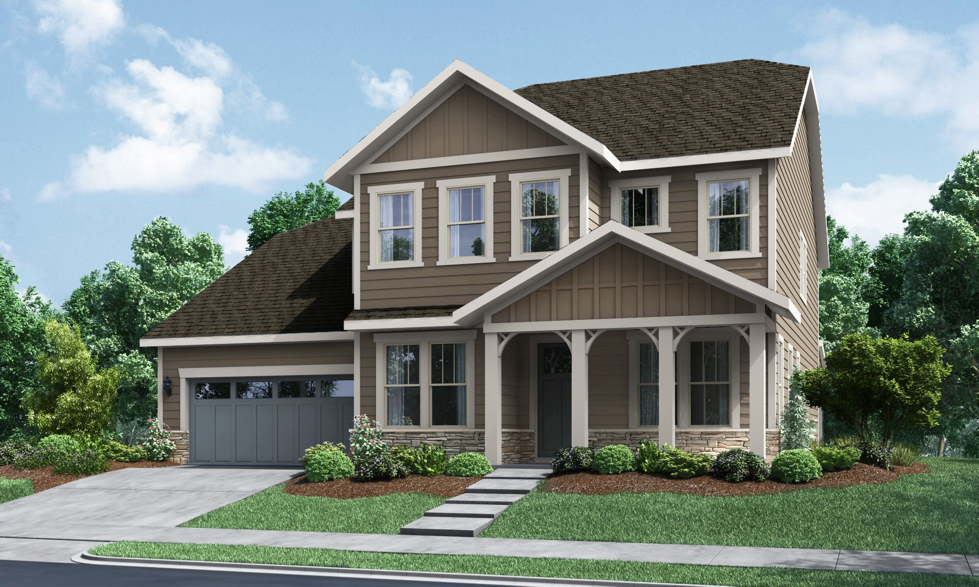Exterior featured in The Fortuna at Paddlers Cove By Fielding Homes in Charlotte, SC
