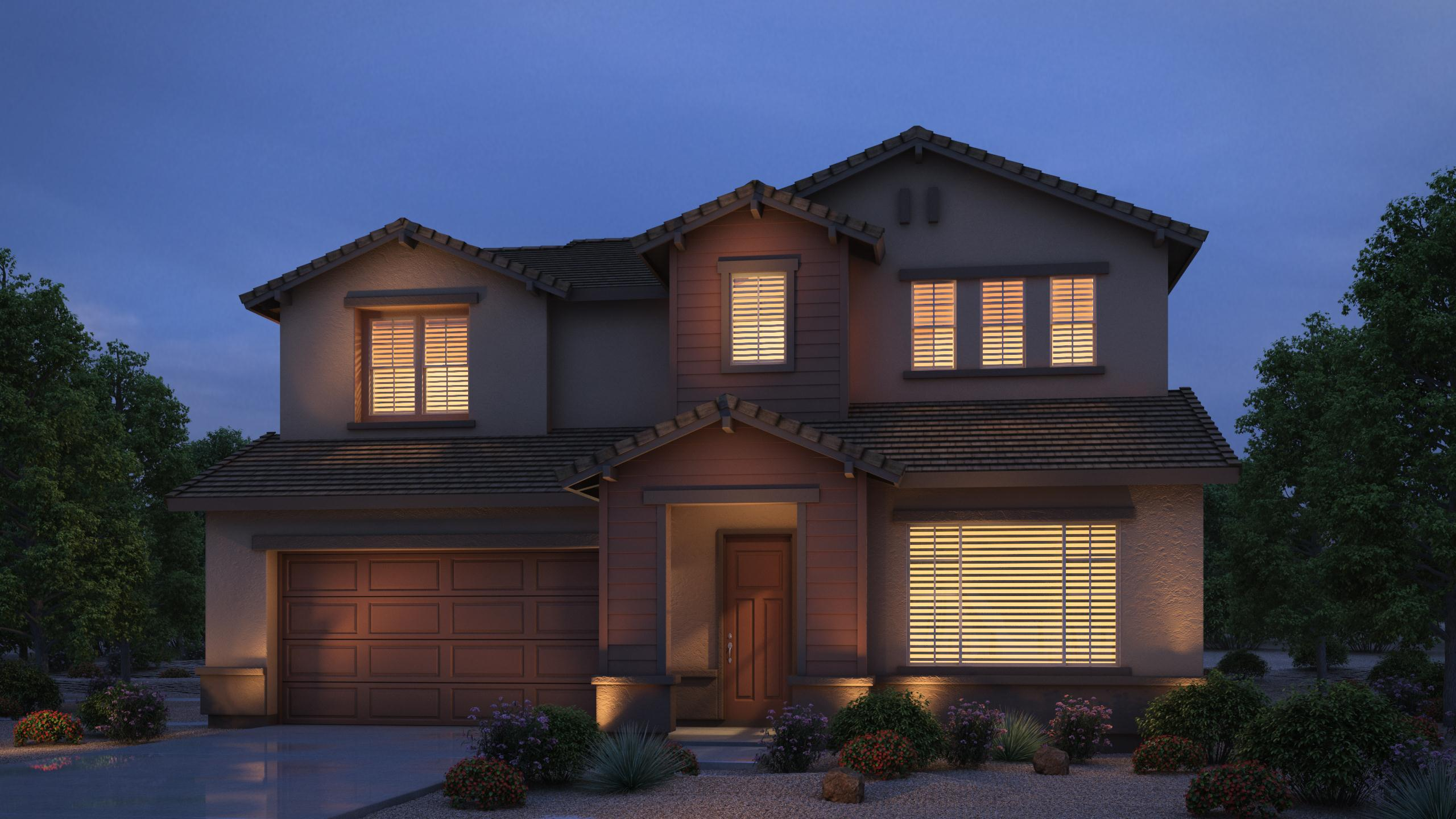 Exterior featured in the Providence By Cresleigh Homes Arizona, Inc. in Phoenix-Mesa, AZ