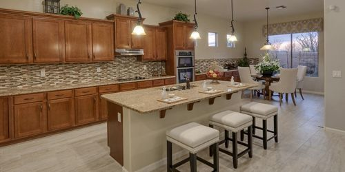 Kitchen-in-Madrid-at-Ridgeview at Sonoran Mountain Ranch-in-Peoria