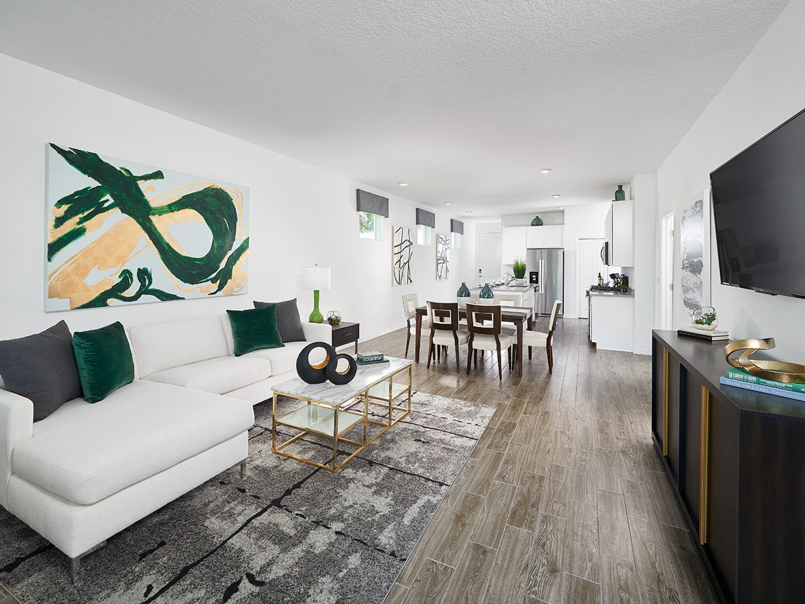 Living Area featured in the Poinciana - Meritage Homes  By Crown Community Development