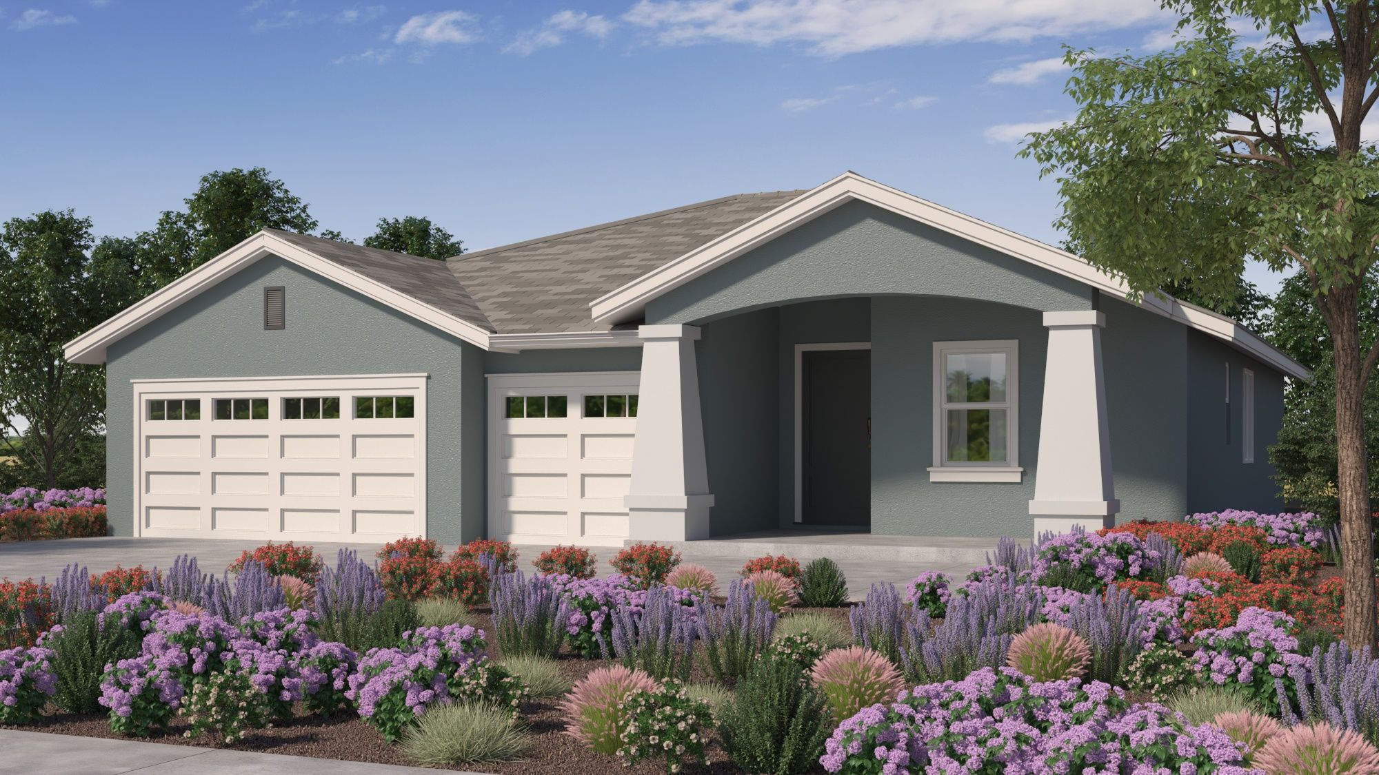 Exterior featured in the Plan 2095 By Crowne Communities in Sacramento, CA