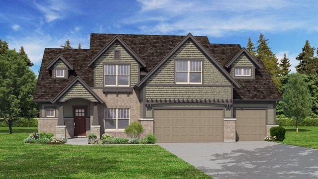 DJK Homes The Bayfield Craftsman Style Elevation
