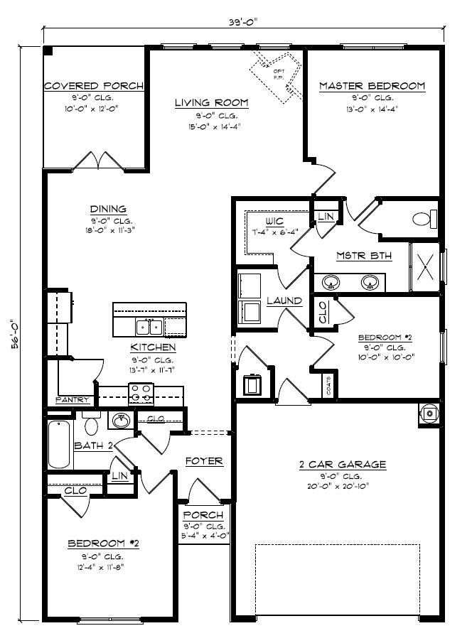 The Arlington Plan Foley Alabama 36535
