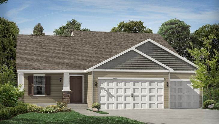 The Rushmore Plan at Copper Ridge Raised Ranch Homes in ... on ranch style duplex plans, ranch plan with rear garage, ranch floor plans for duplexes, modular home plans with garage, simple duplex plans with garage,
