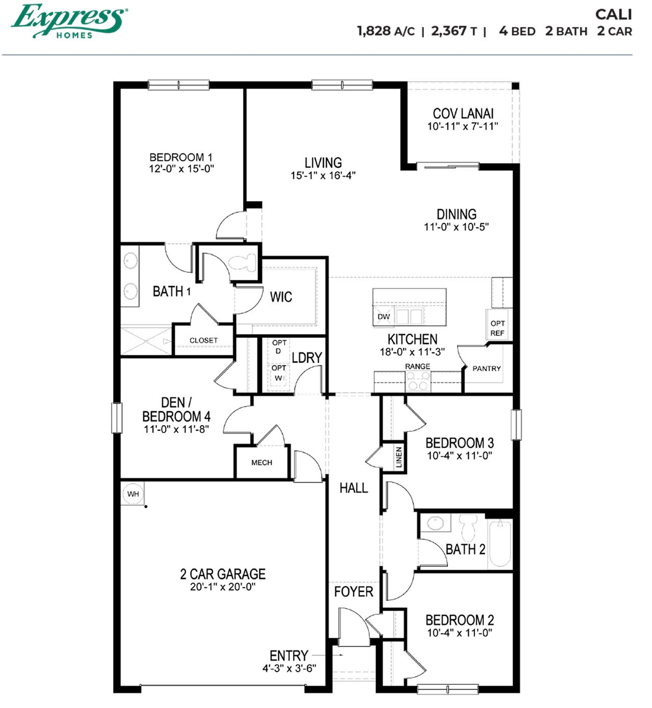 Cali Express Homes Plan At Brightwater In North Fort Myers Fl By D R Horton