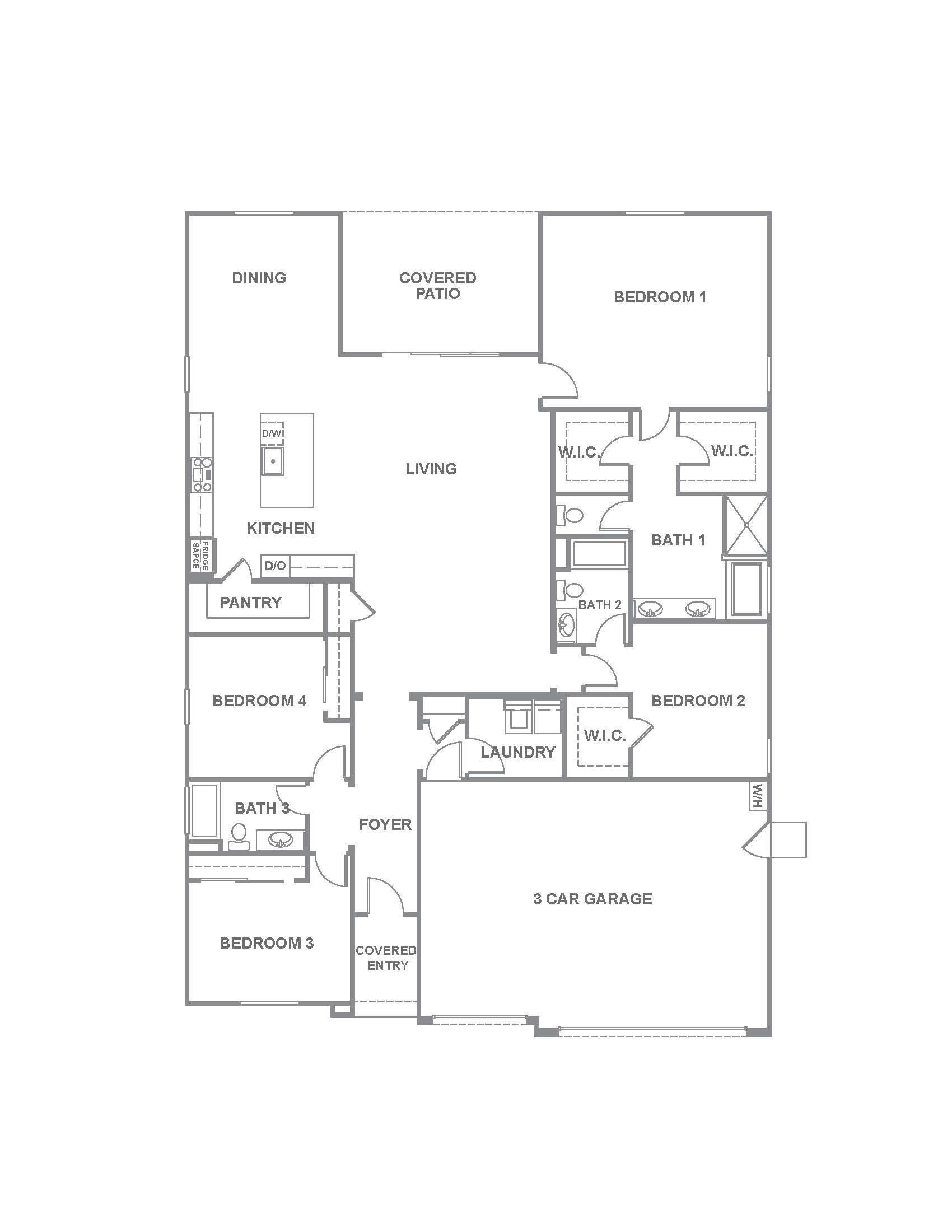 2538 Plan Plan At Adalyn Manor In Las Vegas Nv By D R Horton