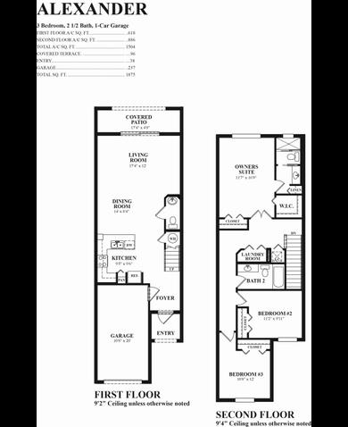 floor plan alexander flooplan 1 - Deefield Park Homes Floor Plans