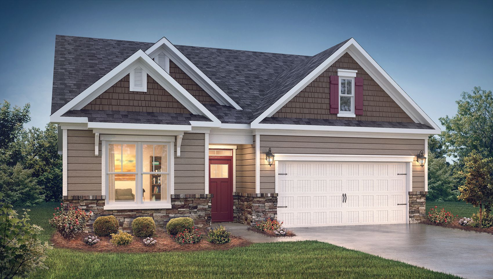Exterior featured in the Claiborne By D.R. Horton in Hickory, NC