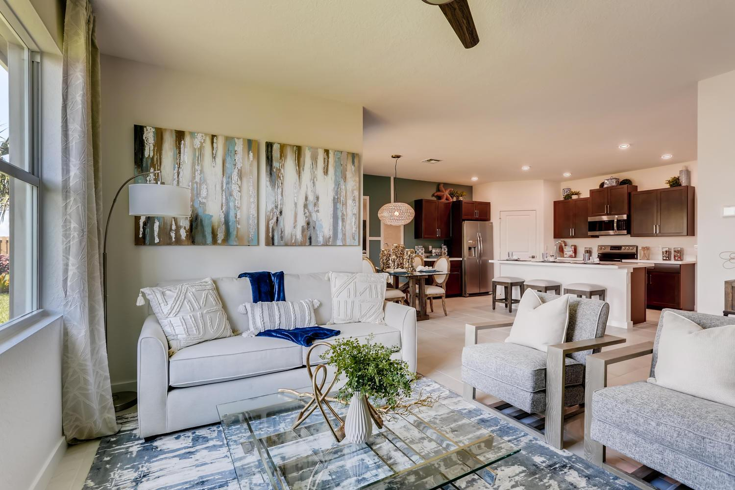 Living Area featured in the Cali By D.R. Horton in Martin-St. Lucie-Okeechobee Counties, FL