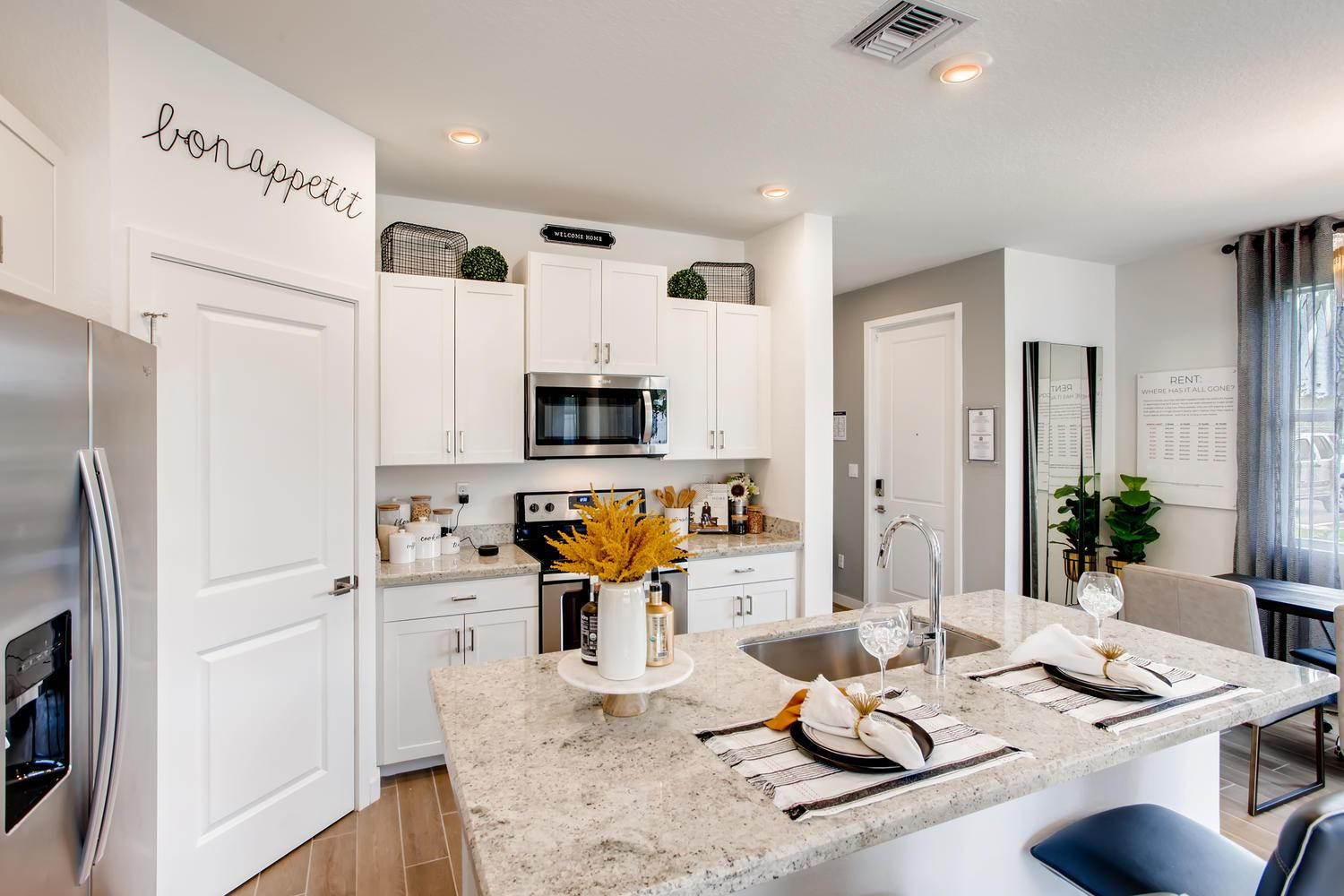Kitchen featured in the Callaway By D.R. Horton in Palm Beach County, FL