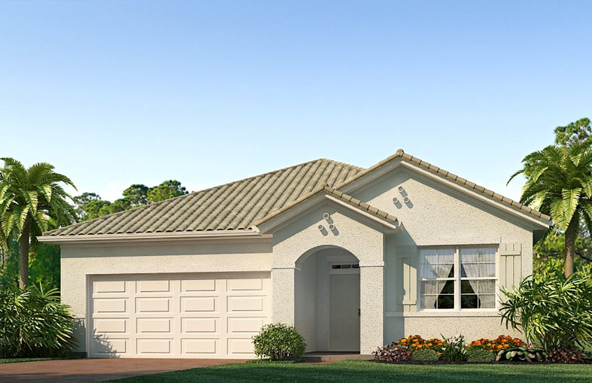 Exterior featured in the Aria - Express Homes By D.R. Horton in Fort Myers, FL