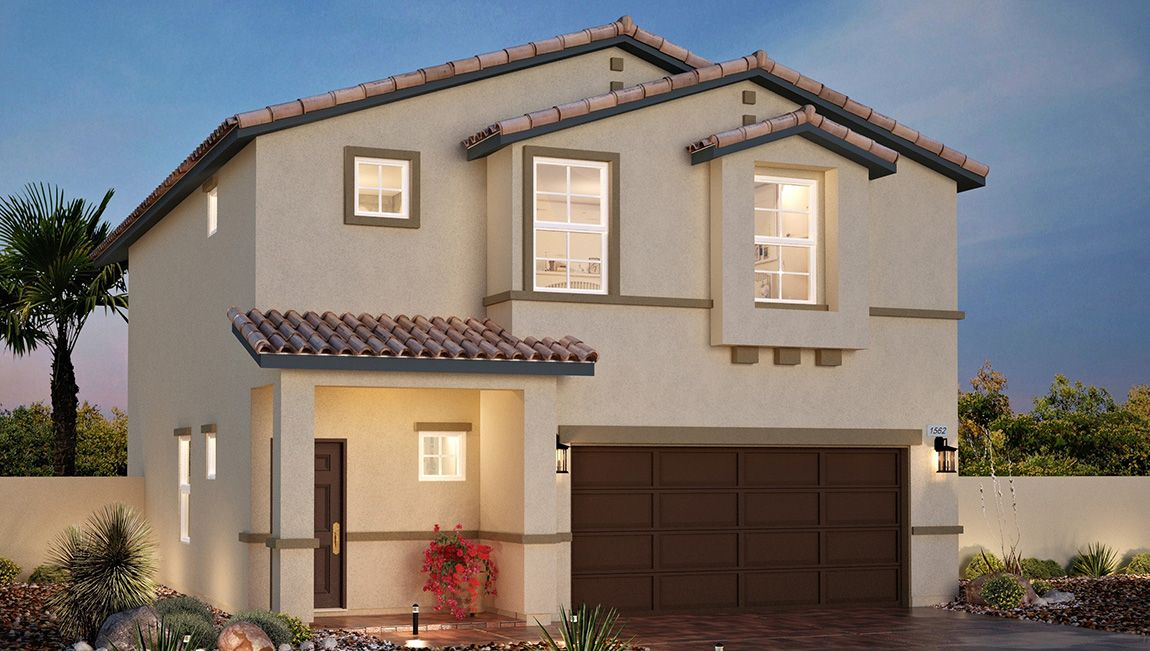 Exterior featured in the 1562 Plan By D.R. Horton in Las Vegas, NV