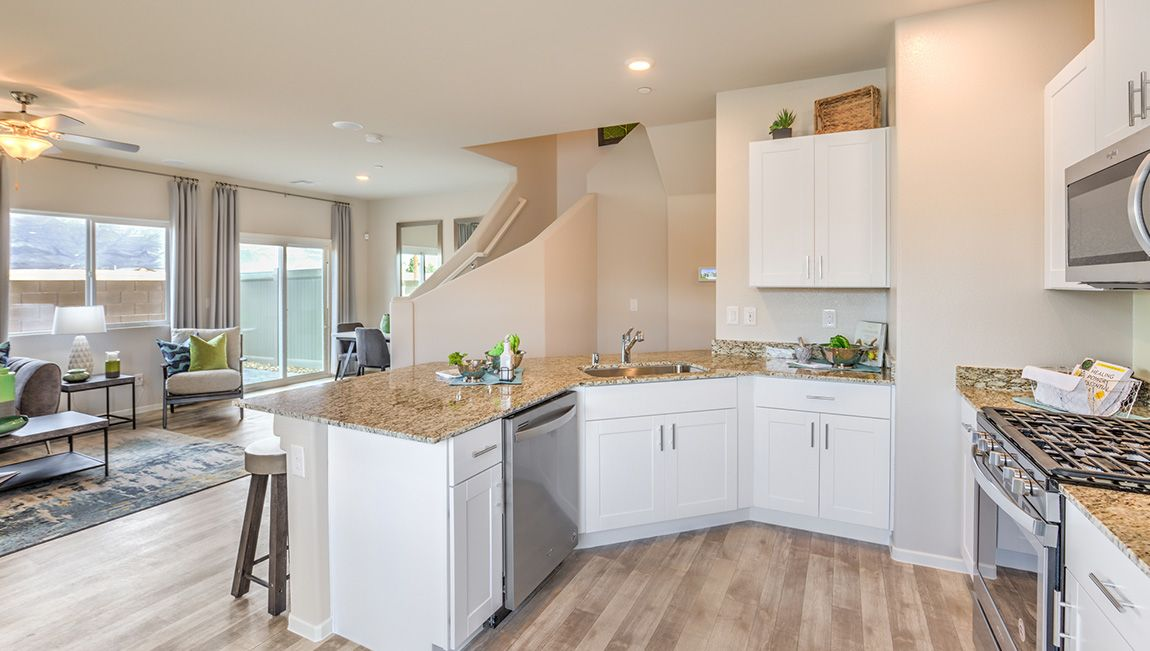 Kitchen featured in the 1399 Plan By D.R. Horton in Las Vegas, NV