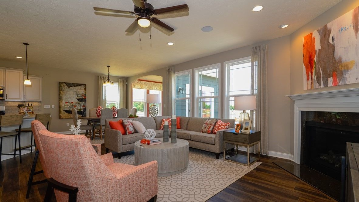 Living Area featured in the Grandover By D.R. Horton in Indianapolis, IN