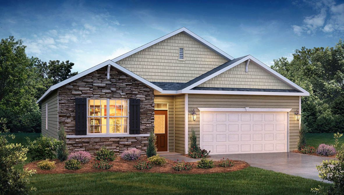 Exterior featured in the Cali By D.R. Horton in Jacksonville, NC