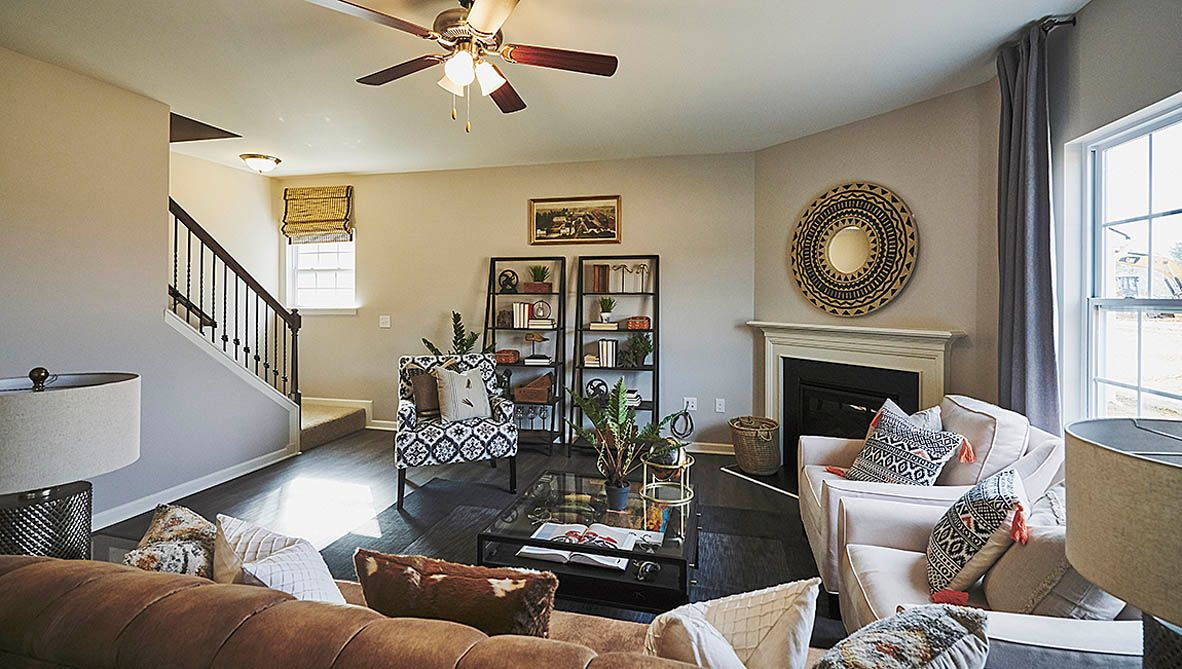 Living Area featured in the Wilmington By D.R. Horton in Jacksonville, NC