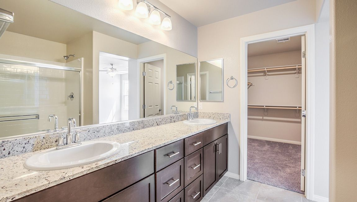 Bathroom featured in the 1562 Plan By D.R. Horton in Las Vegas, NV