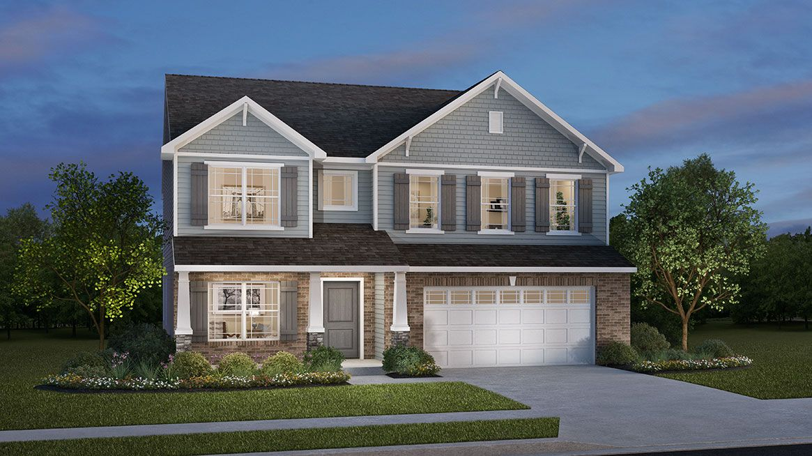 Exterior featured in the West Haven By D.R. Horton in Indianapolis, IN