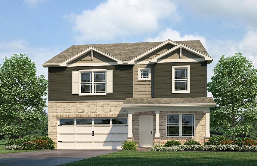Exterior featured in the Holcombe By D.R. Horton in Fort Wayne, IN