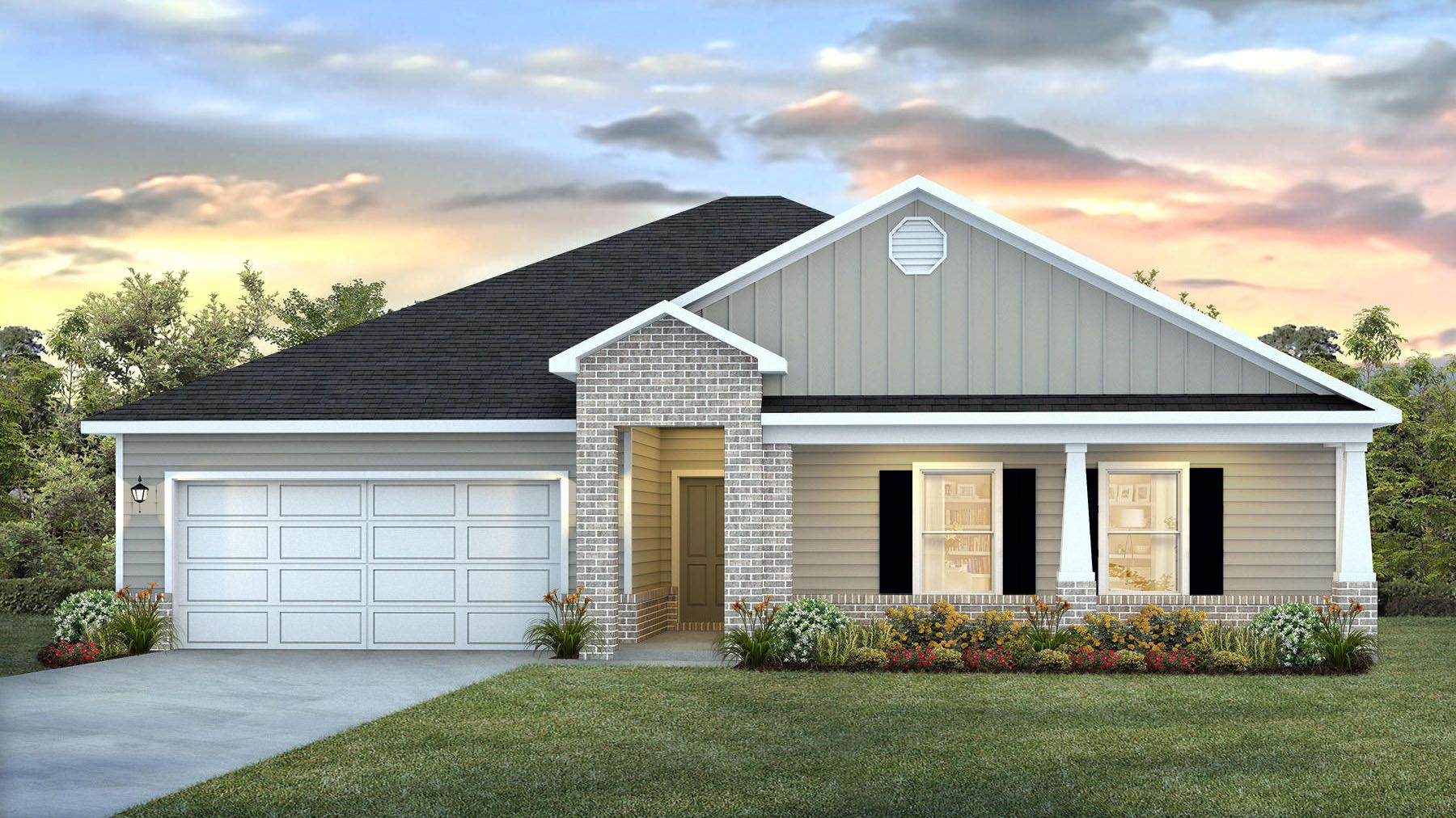 Exterior featured in The Denton By D.R. Horton in Biloxi, MS