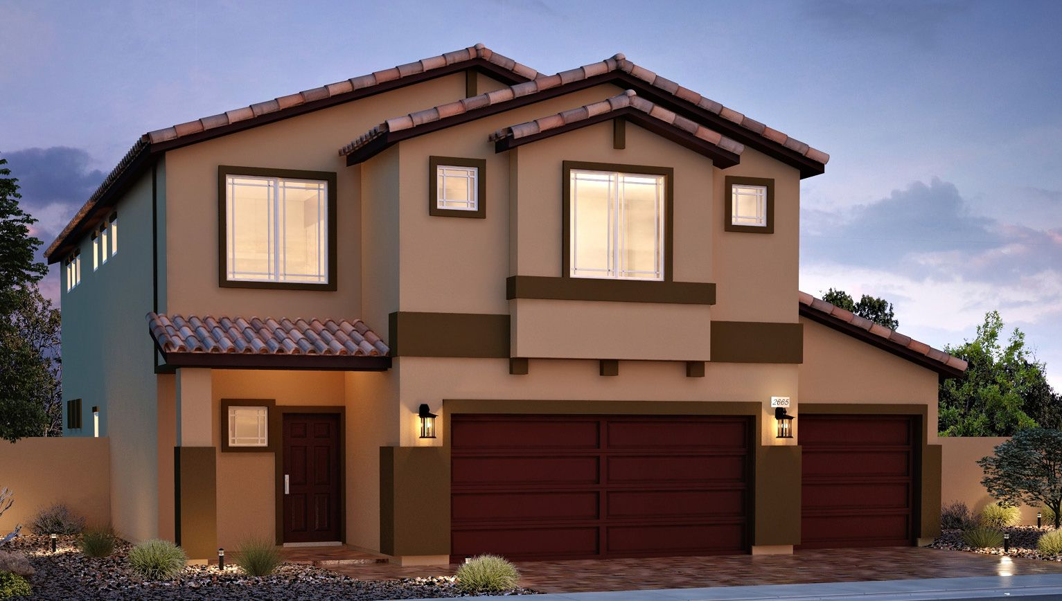 Exterior featured in the 2665 Plan (3-Car) By D.R. Horton in Las Vegas, NV